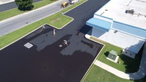 seal coating parking lot